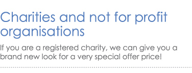Charities - a brand new look for half price